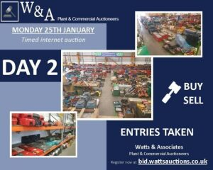 Day 2 Carlton SALE *Ending from 9.00am on Monday 25th January 2021* (Timed Auction) (Power Tools & Small Plant) **NOW CLOSED FOR ENTRIES**