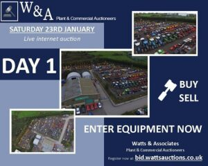 Day 1 Carlton LIVE SALE (internet bidding only) *Saturday 23rd January 2021* (Large Plant, Agricultural Equipment & Vehicles) **ENTRIES STILL OPEN**