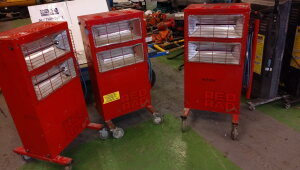 3 x RED RAD infrared 240v heaters