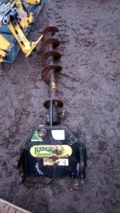 Hydraulic post hole borer c/w auger (to suit KANGA loader)
