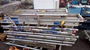 Pallet of LEWIS scaffold components