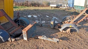 2 x road roller trailers (spares) (3308937, 3259844)