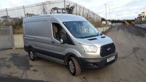 2016 FORD TRANSIT 2.0l diesel panel van, one owner, 6 speed, electric windows, A/c (silver) (MoT 29th November 2020) (OE66 DVM)