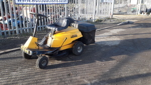 McCULLOCH HORNET petrol ride on mower c/w collector
