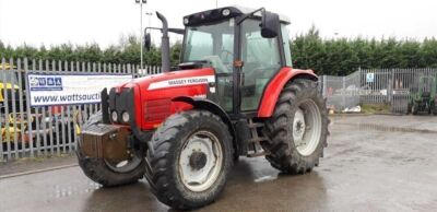 2004 MASSEY FERGUSON 5460 4wd tractor, 2 spools, 3 point links, puh, twin assister rams, front weights, (SP54 CFZ) (No Vat)