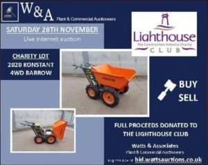 2020 KONSTANT 4wd petrol driven dumper (unused) ALL PROCEEDS OF THIS LOT WILL BE DONATED TO THE LIGHTHOUSE CLUB (YORKSHIRE BRANCH)