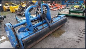 PORT AGRI front/rear mounted flail mower c/w pto shaft & hydraulic off set (s/n 4074)