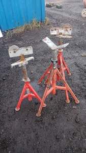 3 x RIDGID pipe stands