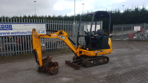 2014 JCB 801.4 rubber tracked excavator (s/n ) with bucket, blade & piped