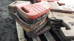 6 x MASSEY FERGUSON 100 series weights