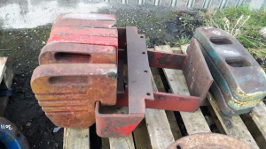 6 x MASSEY FERGUSON 100 series weights & frame