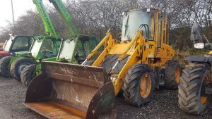 2001 JCB 411 HT articulated wheeled loading shovel (s/n EO527794) with front bucket