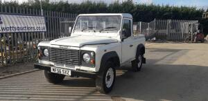 LAND ROVER DEFENDER 90 truck cab (MF56 SXZ) (MoT 24th September 2021) (V5 & MoT in office)