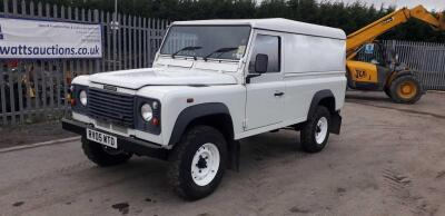 LAND ROVER DEFENDER 110 4wd (white) (RV05 WTD) (MoT 7th October 2021) (V5 & MoT in office)