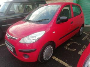 2008 HYUNDAI i10 petrol 5dr hatchback (red) (YS08 ZWA) (MoT until 30th September 2021) (V5, key & MoT in office)