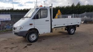 2003 MERCEDES SPRINTER 4x4 dropside pickup 311CDI, tow bar, BF Goodrich All-Terrain tyres (AY53 HFX) (MoT 30th January 2021) (V5 & MoT in office) (R&D