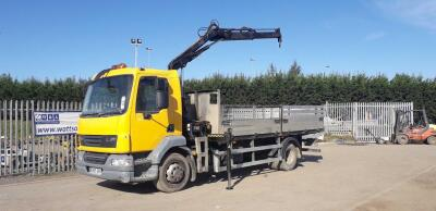 DAF LF drop side wagon c/w HIAB 066B-1 duo crane (GN09 EMX) (V5 in office)