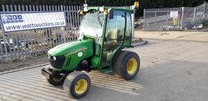2008 JOHN DEERE 2520 4wd compact tractor, 3 point links, pto, 2 spool valves (NK58 GVD) (V5 in office)