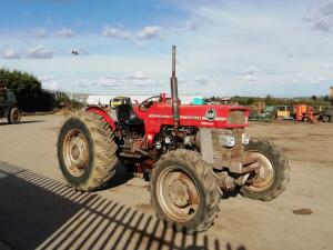 MASSEY FERGUSON 168 4wd tractor (s/n W189028) c/w multi power, spool valve, trailer braking valve & 3-point linkage