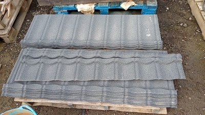Pallet of plaster roof flashings