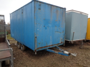 LYDNEY CONTAINERS twin axle site cabin (M122)
