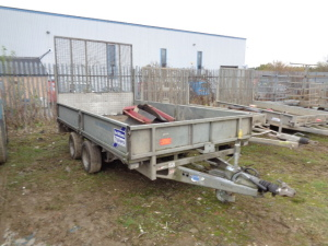 IFOR WILLIAMS LM126G twin axle plant trailer (s/n A. 59163)