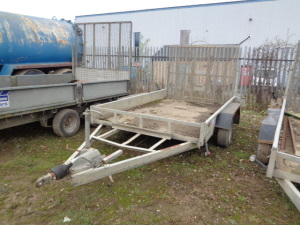 INDESPENSION 3.5t twin axle plant trailer with ramp (A708502)