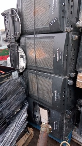 Pallet of gas cabinet heaters