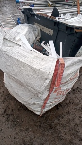 Tote bag of gutter & fascia components
