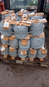 Pallet of barbed wire