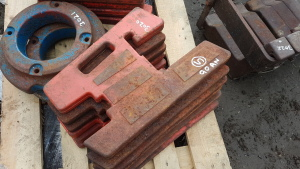 6 x DAVID BROWN slab weights