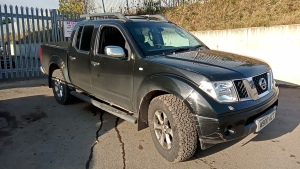 2006 NISSAN NAVARA DCi manual, double cab pickup, leather, rear load cover (private reg M900 ACT included) (V5 in office)(CATEGORY C INSURANCE LOSS)